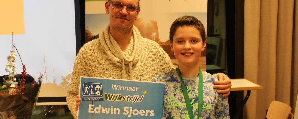 Edwin Sjoers wint Wijkstrijd Nieuwland voor duurzaam reizen