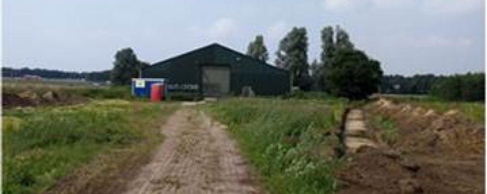 Kavel en/of loods Wieken-Vinkenhoef huurvrij beschikbaar